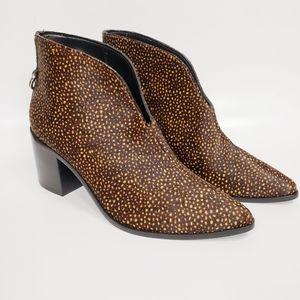 Kaanas Bellone Brown Cheetah Calf Hair Boots NWT